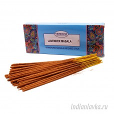 Ароматические палочки Лаванда Масала (LAVENDER MASALA)/ Vrindavan – 100 гр.