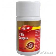 Трифала Гуггул (Trifla Guggulu) Dabur – 40 капсул.