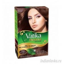 Краска для волос Коричневая (BROWN HENNA) DABUR VATIKA/ Индия – 60 гр.
