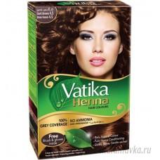 Краска Для Волос Темно-Коричневый (Dark Brown) DABUR VATIKA/ Индия – 60 гр.